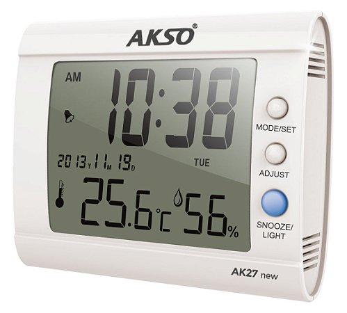 Termo-Higrômetro Digital com Relógio e Alarme