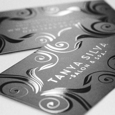 Cartão de Visita Executivo com verniz localizado