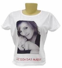ccb0888e6 Camiseta Personalizada com fotos e Frases ou Logo