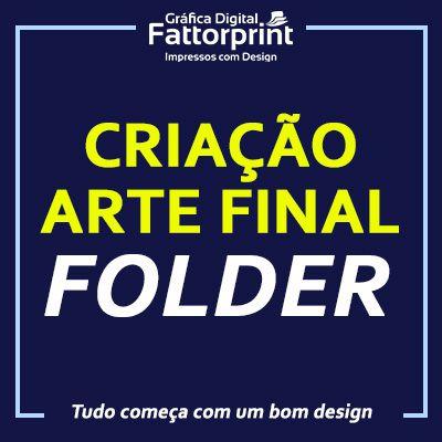 Criação e Arte Final gráfica para Folder