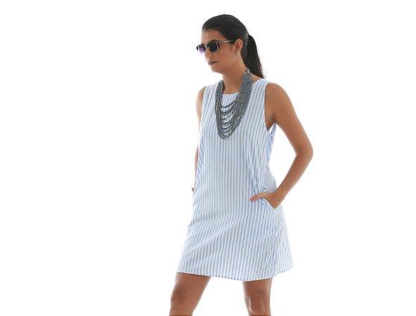 43. Vestido Branco listrado