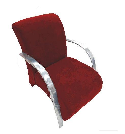 Poltrona Cadeira Decorativa Suede Sala de Estar Recepção - Vermelha