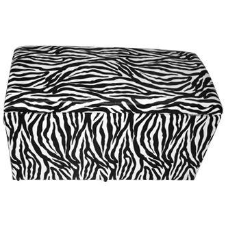 Puff Pufe Puf Retangular 88x41cm Courino Sala Quarto Animal Print Zebra