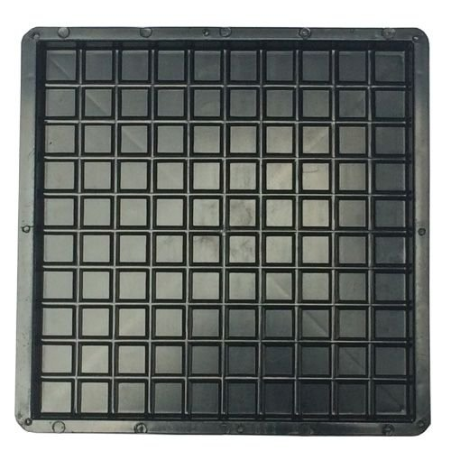 Forma Plástica Quadrada Xadrez 100 Quadros 49x49x3,5cm FP045