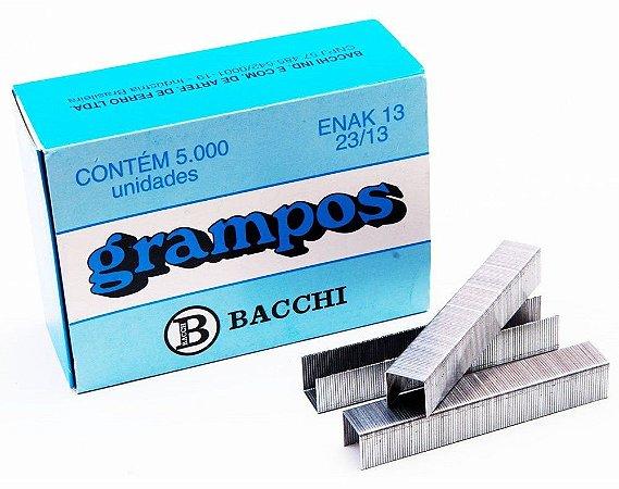 Grampos P/ Grampeador Bacchi Enak 13 (23/13) caixa c/ 5.000