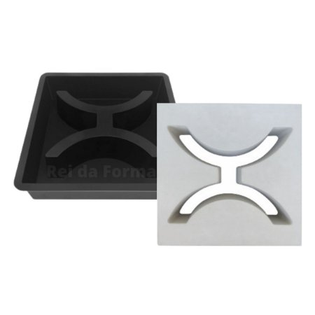 Forma Elemento Vazado Cobogó Fenestra 30x30x7cm - FP156