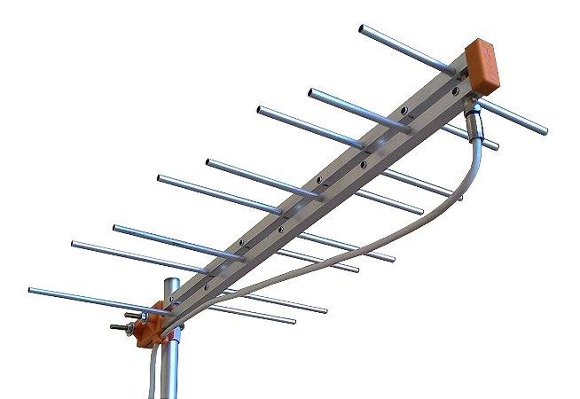 Antena Tv Externa UHF Digital HDTV 16 Elementos