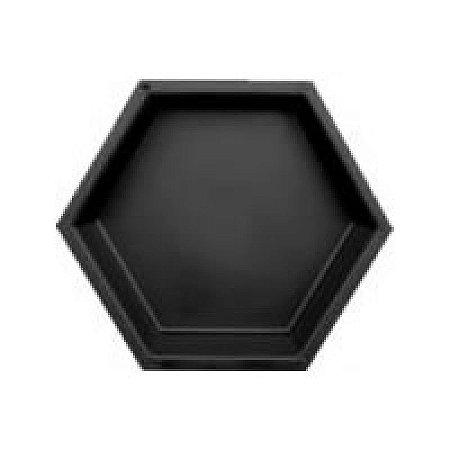 Forma Plástica Sextavada Lisa Bloquete 30x30x4,5cm - FP006