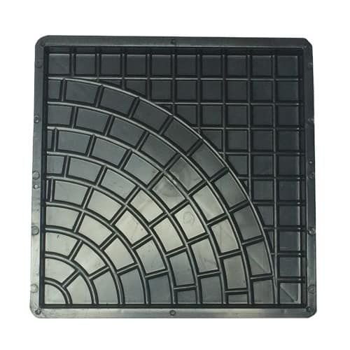 Forma Quadrada Rústica Calçada Cimento 45x45x3,5 - FP026