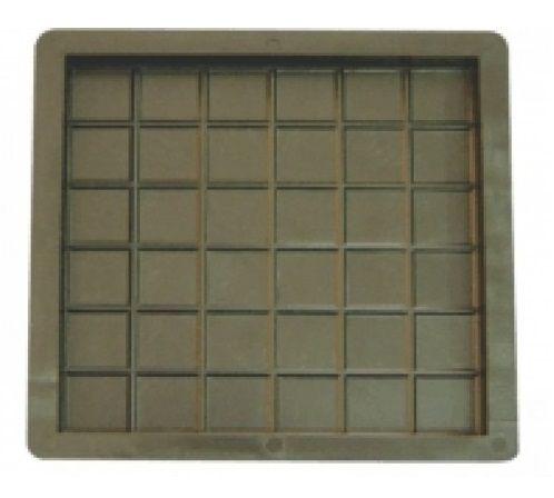 Forma Plástica Ladrilho 20x20x1,5cm Piso Xadrez 36 Quadros FP073