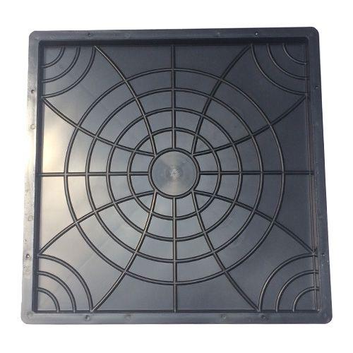 Forma Plástica Quadrada Trabalhada Flor 45x45x2,5cm Piso FP084