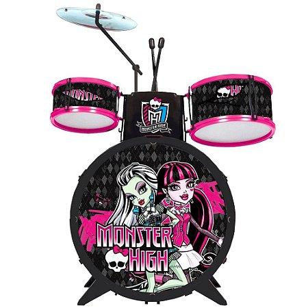 Bateria Infantil Monster High Menina Instrumento Musical