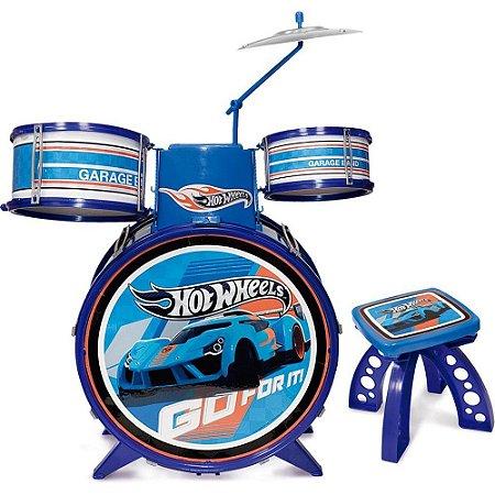 Bateria Infantil Hot Wheels Menino Instrumento Musical