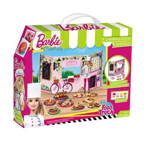 Super Massinha Food Truck Barbie Cantina e Pizzas Divertidas