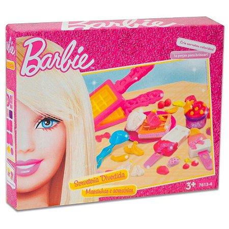 Massinha de Modelar Barbie Sorveteria Divertida 7613-4