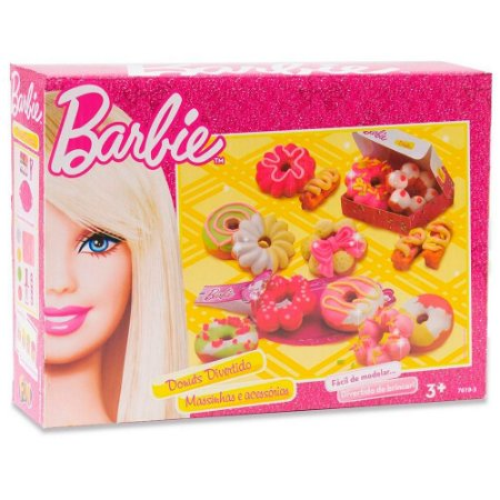 Massinha de Modelar Barbie Donuts Divertido