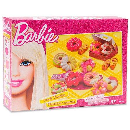 Massinha de Modelar Barbie Donuts Divertido