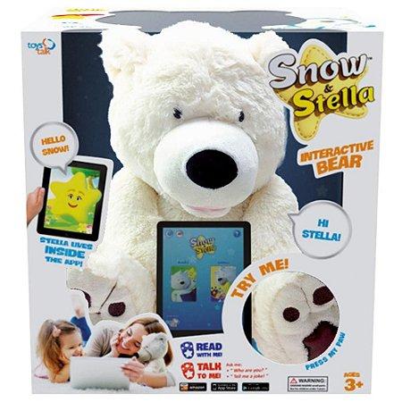 Pelúcia Snow e Stella Urso Interativo Bilíngue Fun 7922-5