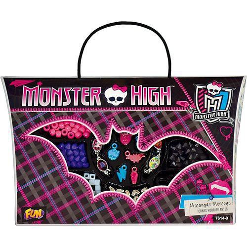 Maleta Morcego Porta Miçangas Monster High Com Luzes 7614-9