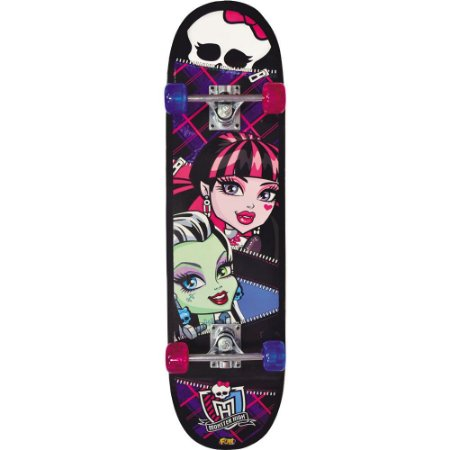 Skate Infantil Monster High Estampa Caveira - 7647-4