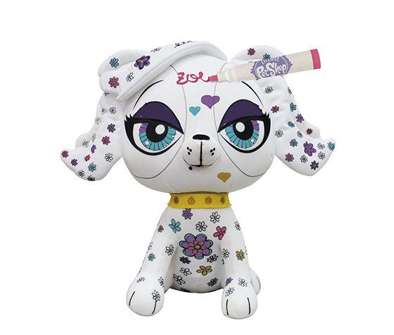 Little Pet Shop Zoe Trent Brinquedo Infantil Pinte e Lave 3D 7966-4