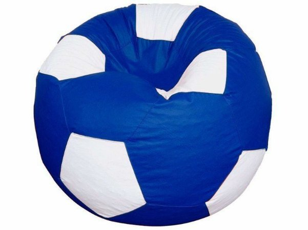 Puff Pufe Puf Redondo Bola Futebol 80cm Diâmetro Courino Quarto Sala Diversas Cores