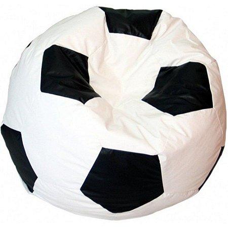 Puff Pufe Puf Redondo Bola Futebol 1,20m Diâmetro Courino Quarto Sala Diversas Cores