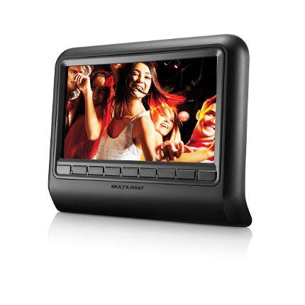 "Tela LCD 9"" Encosto de Cabeça Escravo Banco Carro DVD AU704 - Multilaser"