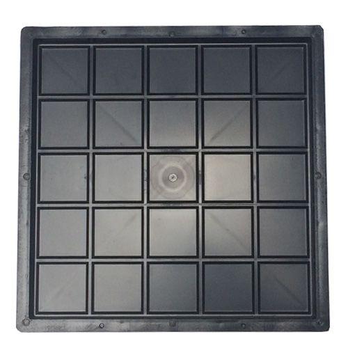 Kit com 10 unidades Forma Ladrilho Xadrez 25 Quadros 20 x 20 x 1,5 cm - FP044