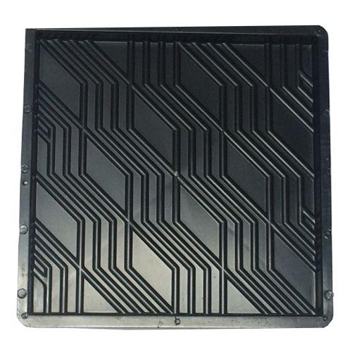 Kit com 10 Formas Quadradas Estriada 32x32x2,5cm - FP022