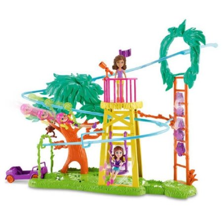 Polly Pocket Surpresa Safari Diversão Na Tirolesa 7992-1 - Mattel