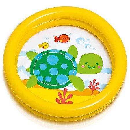 Piscina de Bebê Inflável 15L Infantil Praia Estampa Tartaruga 5576-9 - Intex