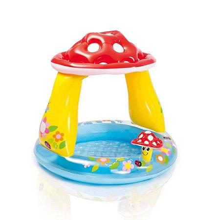 Piscina Inflável Cogumelo Cobertura 45L Infantil Praia 8018-9 - Intex
