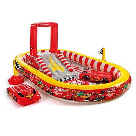 Piscina Cars Playground  636L Infantil Praia 7672-2 - Intex