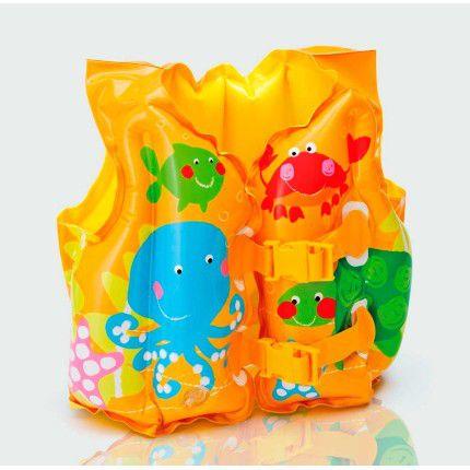 Colete Inflável Salva-Vidas Infantil Peixinhos 5163-0 - Intex