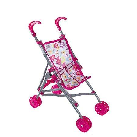 Carrinho de Boneca Infantil Rosa Adora Doll Bebê Realista