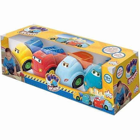 Baby Work Caminhão 4 Carrinhos Brinquedo 572 - Big Star