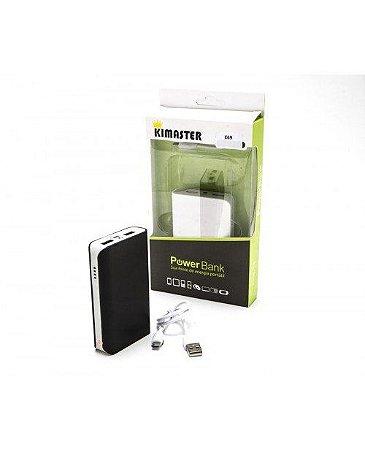 Power Bank 3 Baterias Carregador Portátil Celular E69 - Kimaster