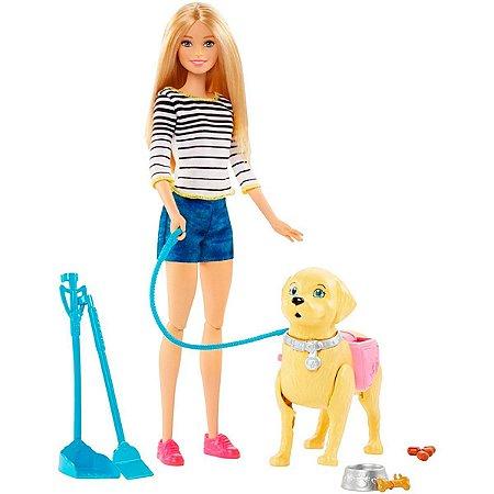 Boneca Barbie Família Passeio Cachorrinho DWJ68 Mattel