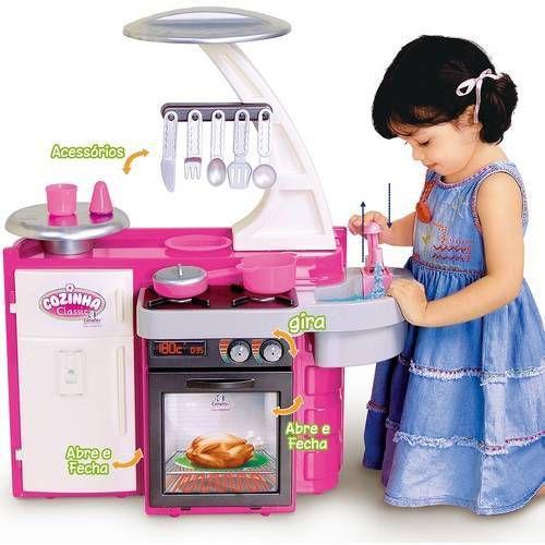 Cozinha Infantil Classic Sai Água 76 Cm Altura 7110-7 Cotiplás