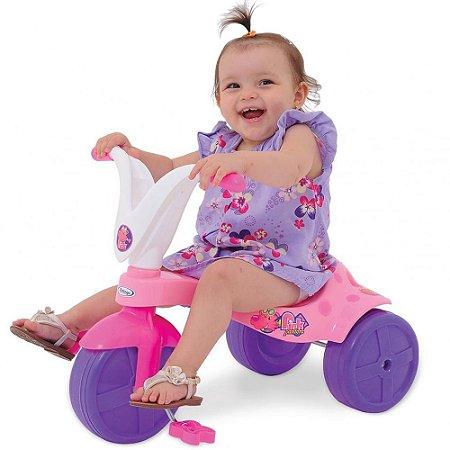 Triciclo Motoca Infantil Tico Tico Pink Pantera 7632 - Xalingo