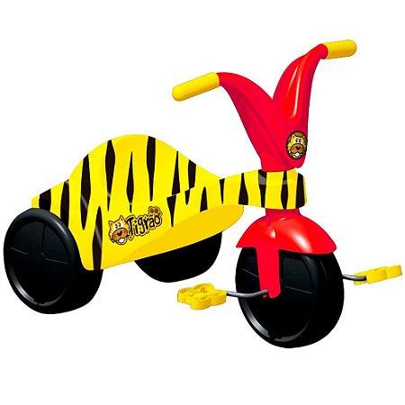 Triciclo Infantil Tigrão com Pedal Amarelo 7621 Xalingo