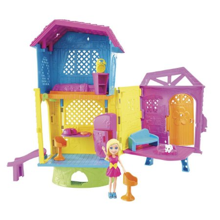 Boneca Polly Pocket Super Clubhouse Casa DHW41 Mattel