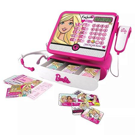 Caixa Registradora Barbie Luxo Brinquedo - Intek 7274-9
