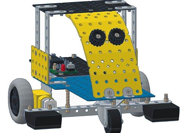 Robô Seguidor de Linha Brinquedo Montar Móbil 9 - Modelix