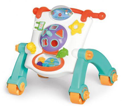 Andador Didático 3 Em 1 Mesa Painel Bebe Infantil - Calesita