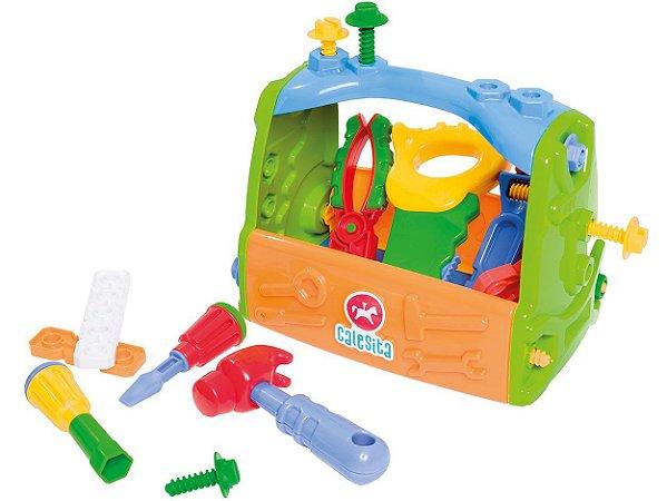 Caixa Kit de Ferramentas Infantil Didático - Calesita
