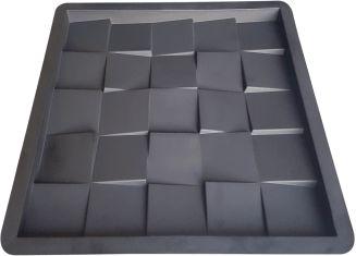 Forma para Revestimento de Parede 3D Quadrada 29cm 25 Quadros FP146