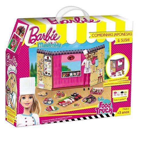 Massinha Food Truck Barbie Comida Japonesa Sushi 7968-0 Fun