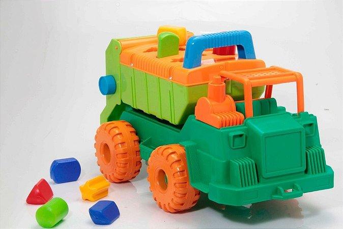 Caminhão Multiformas Infantil Com Blocos - Gulliver